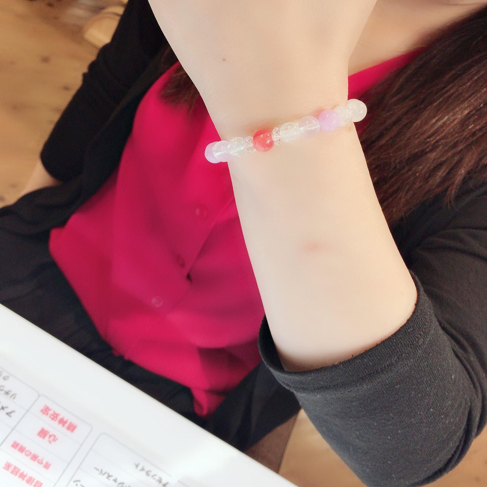 東京 天然石 お作りブレスご紹介 品川区のTさんへ。ストレス撃退ブレスだよ。