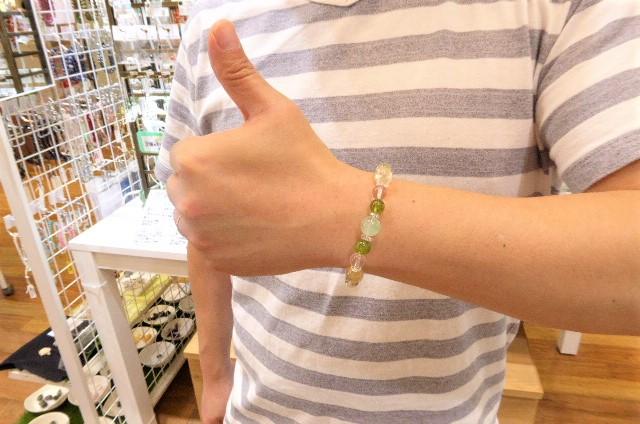 千葉県 パワーストーン専門店 探してて、当店と出会うK様ペア ペリドット ルチル グリーンファントム
